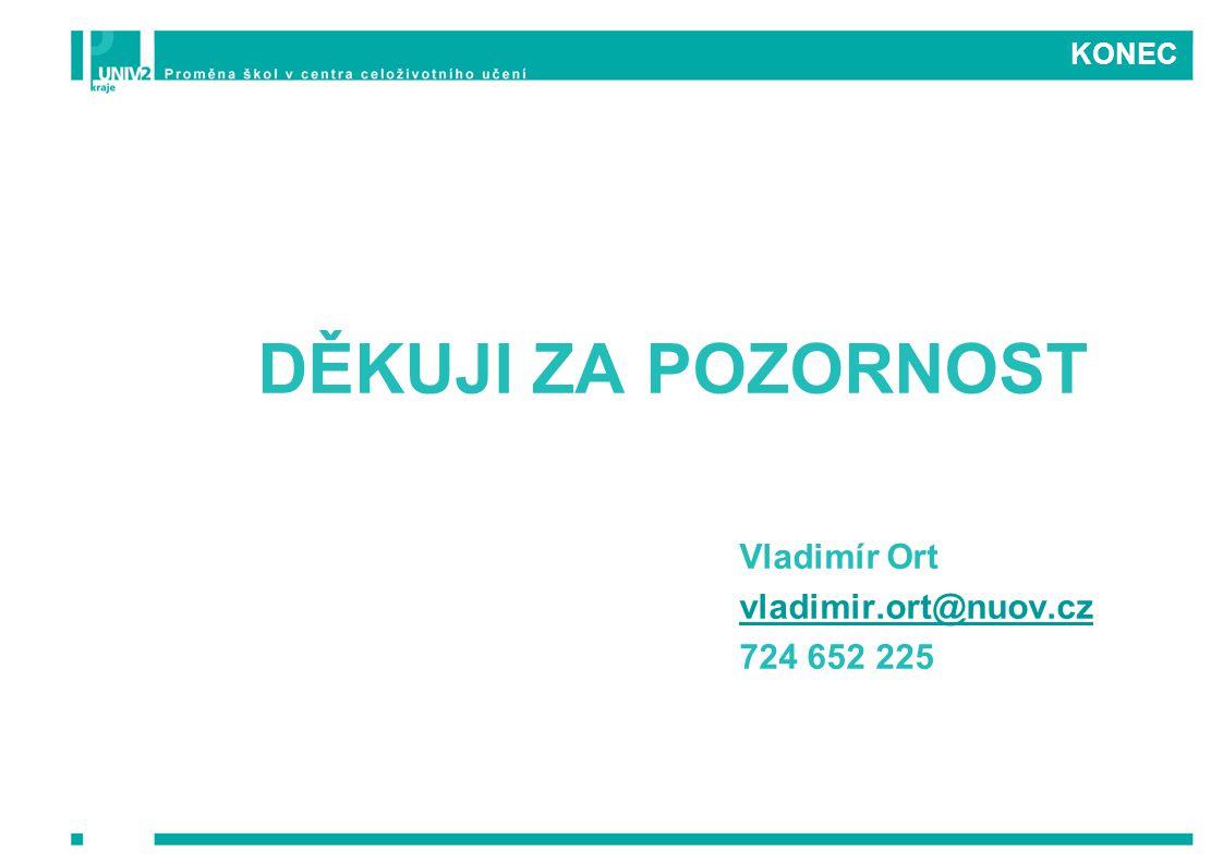 DĚKUJI ZA POZORNOST Vladimír Ort vladimir.ort@nuov.cz 724 652 225