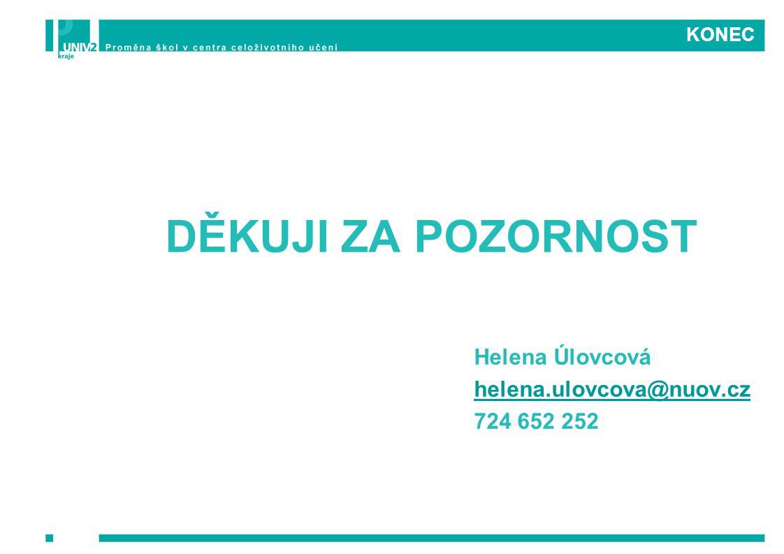 DĚKUJI ZA POZORNOST Helena Úlovcová helena.ulovcova@nuov.cz