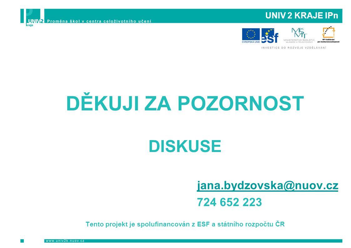 Tento projekt je spolufinancován z ESF a státního rozpočtu ČR