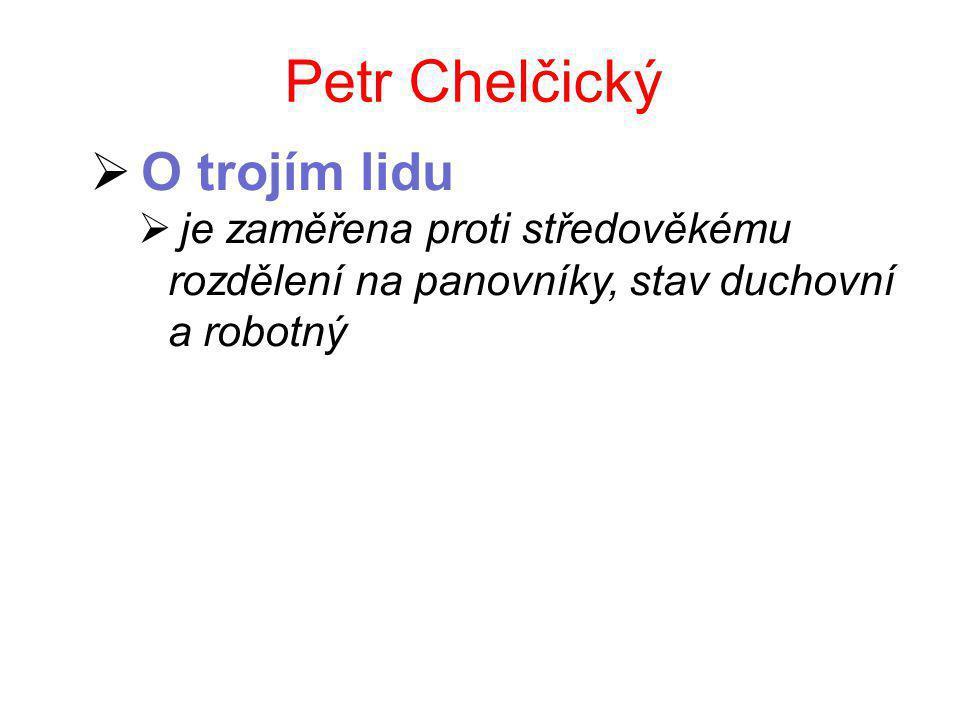 Petr Chelčický O trojím lidu