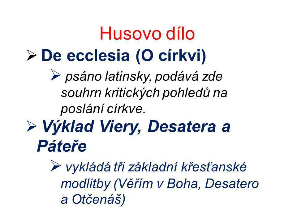 Husovo dílo De ecclesia (O církvi)