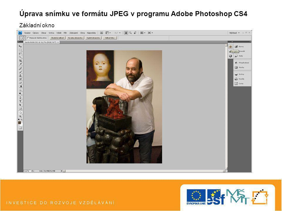 Úprava snímku ve formátu JPEG v programu Adobe Photoshop CS4