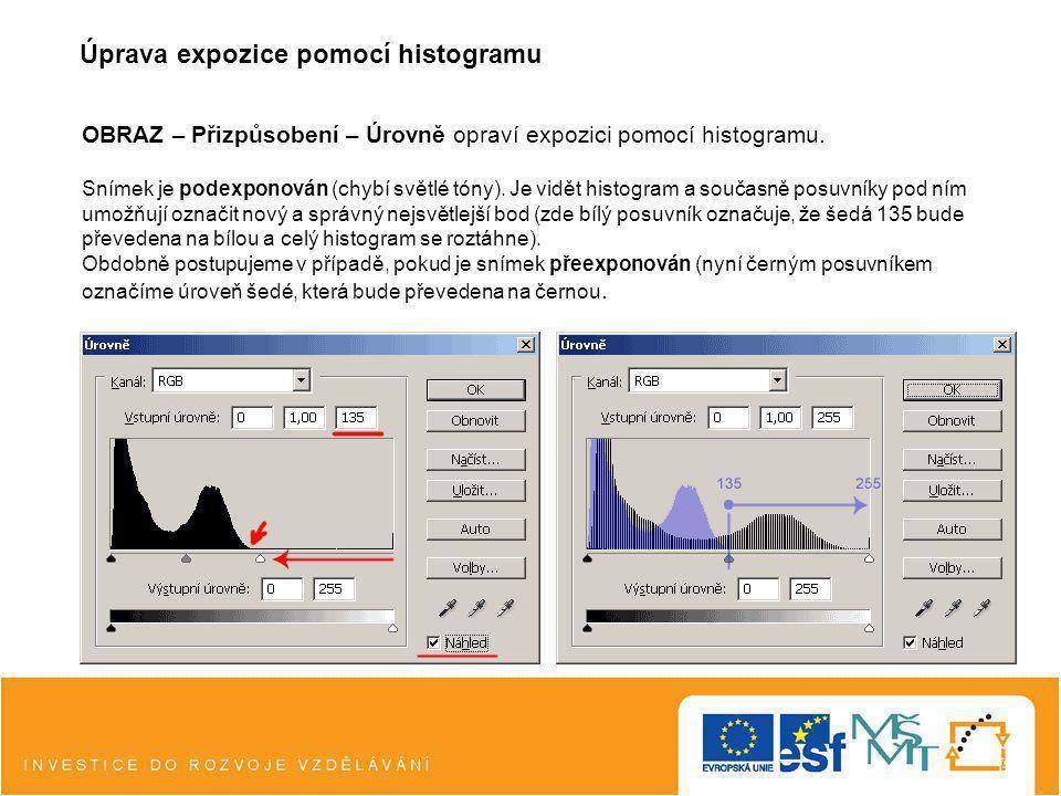 Úprava expozice pomocí histogramu