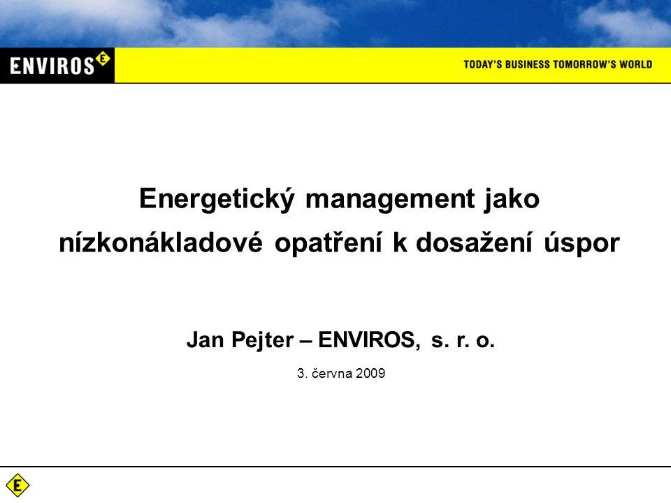 Energetický management jako nízkonákladové opatření k dosažení úspor