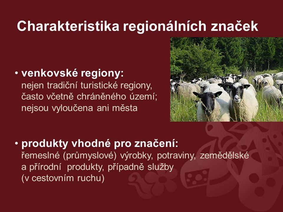 Charakteristika regionálních značek