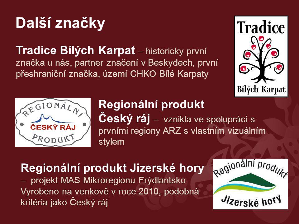 Další značky Tradice Bílých Karpat – historicky první značka u nás, partner značení v Beskydech, první přeshraniční značka, území CHKO Bílé Karpaty.