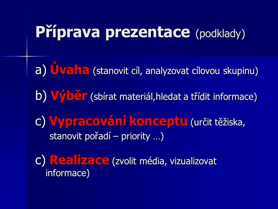 Příprava prezentace (podklady)