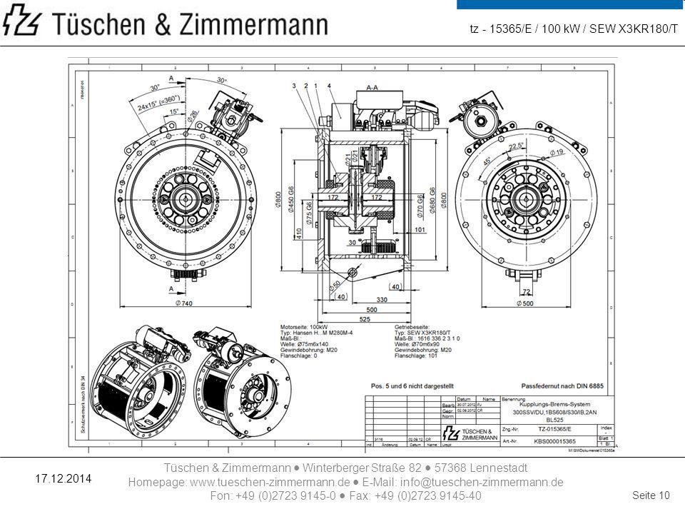 tz - 15365/E / 100 kW / SEW X3KR180/T 07.04.2017