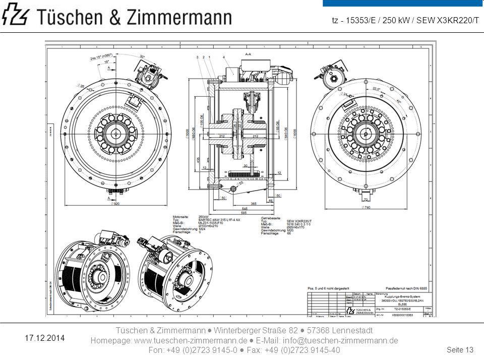 tz - 15353/E / 250 kW / SEW X3KR220/T 07.04.2017