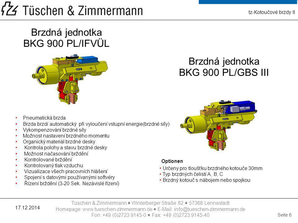 Brzdná jednotka BKG 900 PL/IFVÜL Brzdná jednotka BKG 900 PL/GBS III
