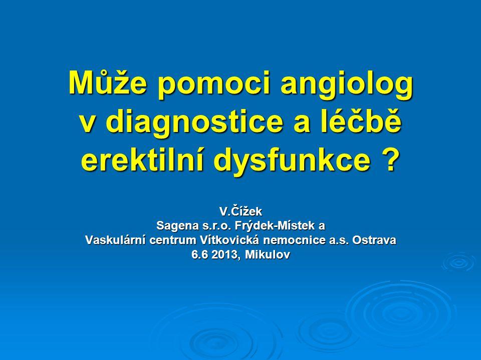 Může pomoci angiolog v diagnostice a léčbě erektilní dysfunkce