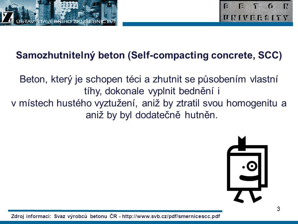 Samozhutnitelný beton (Self-compacting concrete, SCC)
