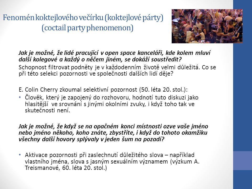 Fenomén koktejlového večírku (koktejlové párty) (coctail party phenomenon)