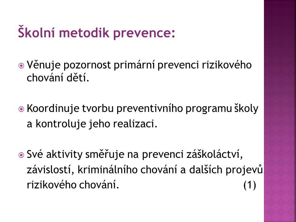 Školní metodik prevence: