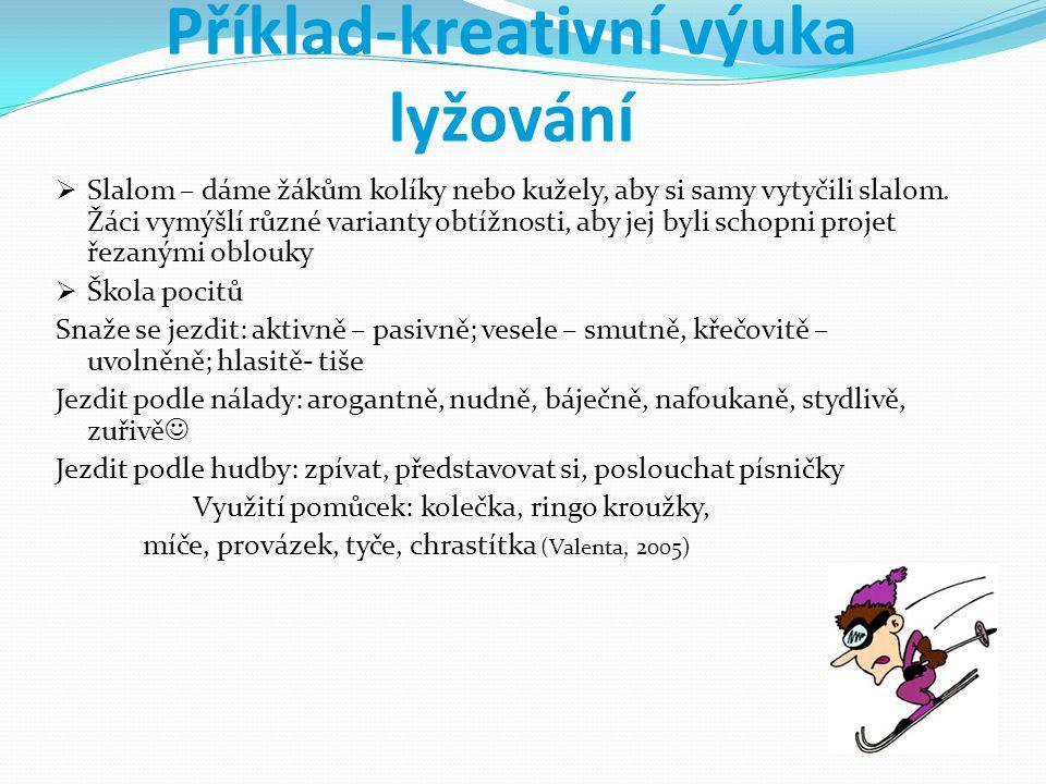 Příklad-kreativní výuka lyžování