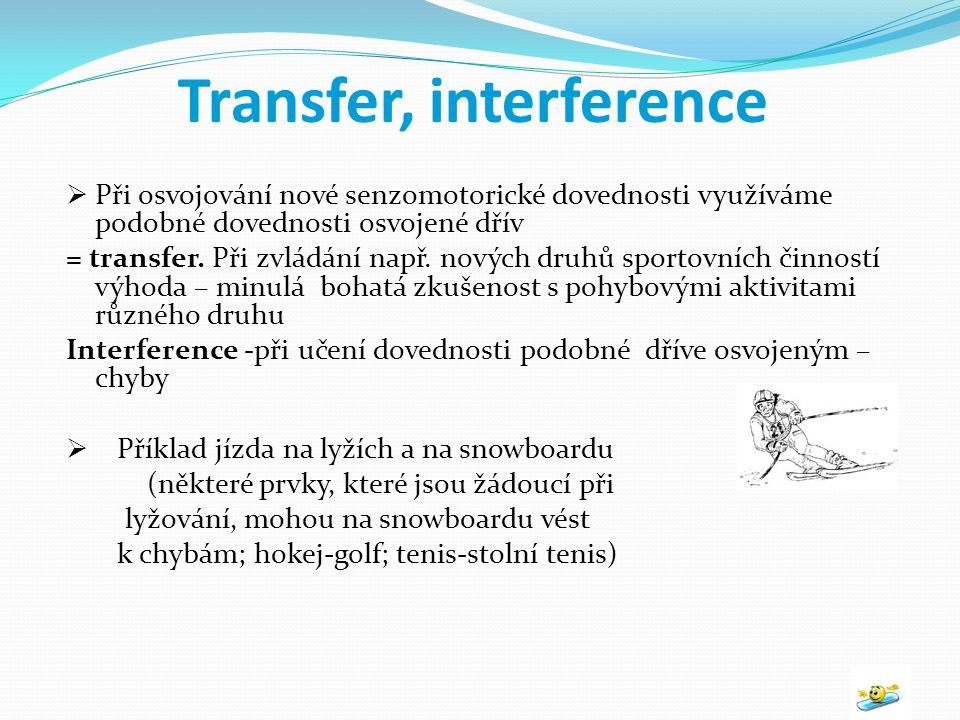 Transfer, interference
