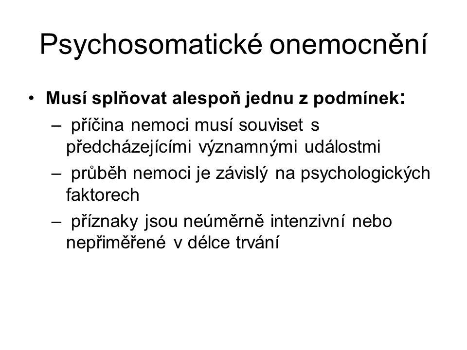 Psychosomatické onemocnění