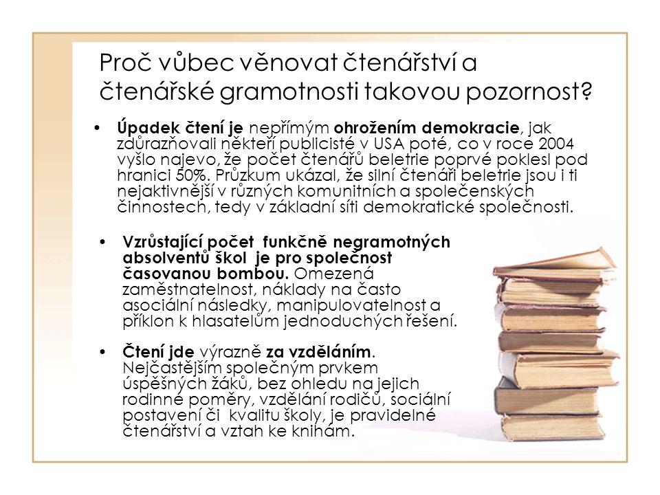 Proč vůbec věnovat čtenářství a čtenářské gramotnosti takovou pozornost