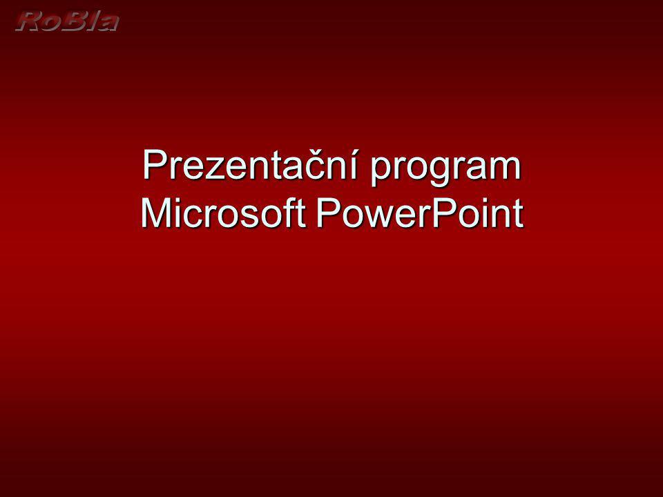 Prezentační program Microsoft PowerPoint