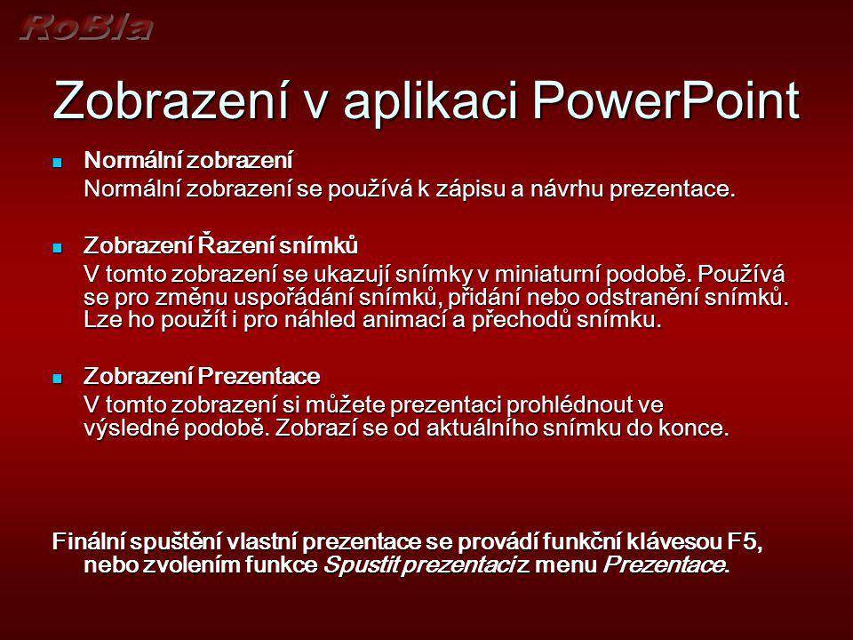 Zobrazení v aplikaci PowerPoint