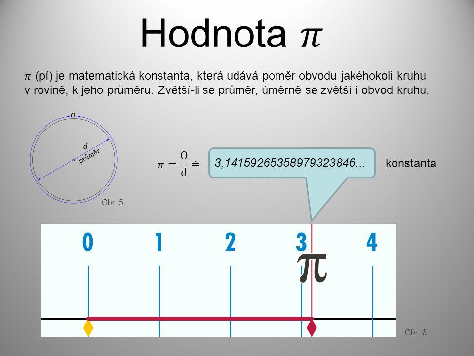 Hodnota 𝜋 𝜋 (pí) je matematická konstanta, která udává poměr obvodu jakéhokoli kruhu.