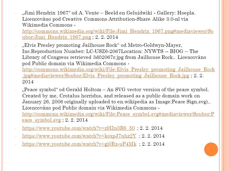 """Jimi Hendrix 1967 od A. Vente – Beeld en Geluidwiki - Gallery: Hoepla. Licencováno pod Creative Commons Attribution-Share Alike 3.0-nl via Wikimedia Commons - http://commons.wikimedia.org/wiki/File:Jimi_Hendrix_1967.png#mediaviewer/So ubor:Jimi_Hendrix_1967.png ; 2. 2. 2014"