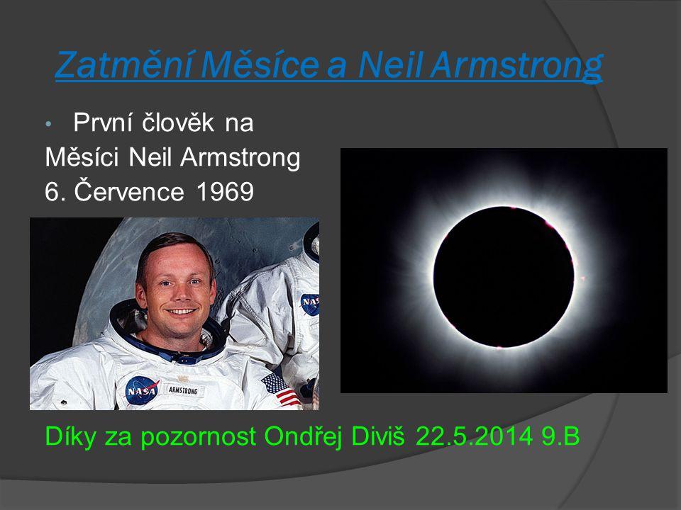 Zatmění Měsíce a Neil Armstrong