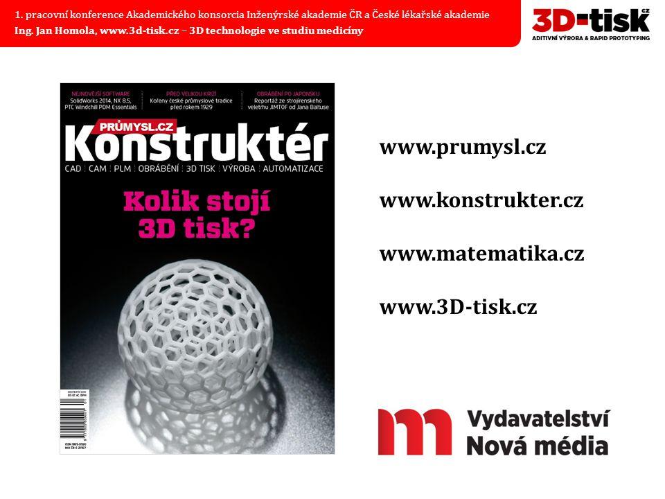 www.prumysl.cz www.konstrukter.cz www.matematika.cz www.3D-tisk.cz