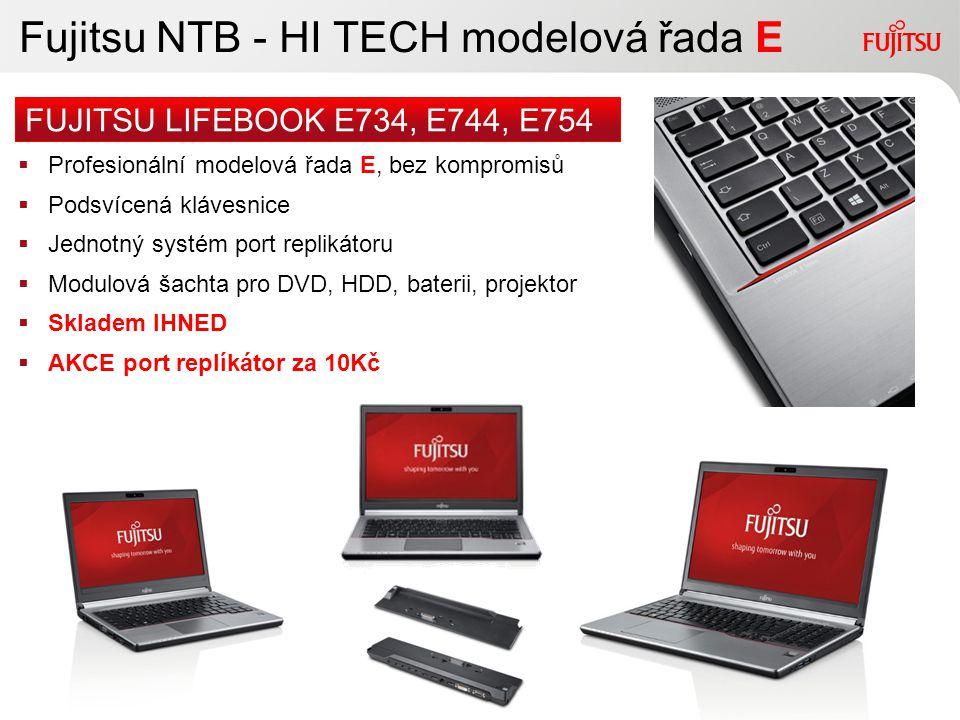 Fujitsu NTB - HI TECH modelová řada E