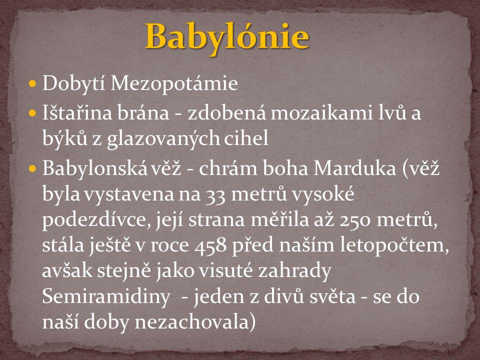 Babylónie Dobytí Mezopotámie
