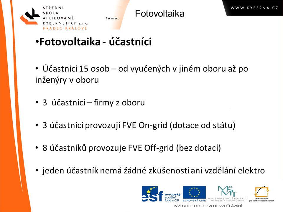 Fotovoltaika - účastníci
