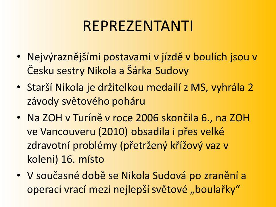 REPREZENTANTI Nejvýraznějšími postavami v jízdě v boulích jsou v Česku sestry Nikola a Šárka Sudovy.
