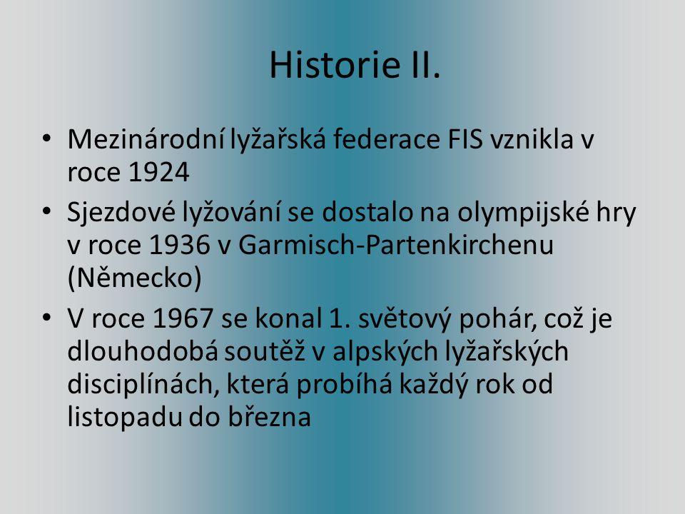 Historie II. Mezinárodní lyžařská federace FIS vznikla v roce 1924
