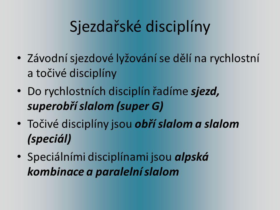 Sjezdařské disciplíny