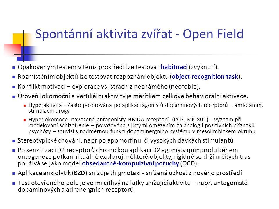 Spontánní aktivita zvířat - Open Field