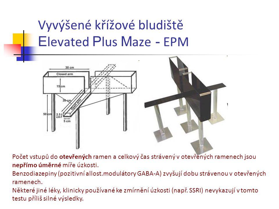 Vyvýšené křížové bludiště Elevated Plus Maze - EPM