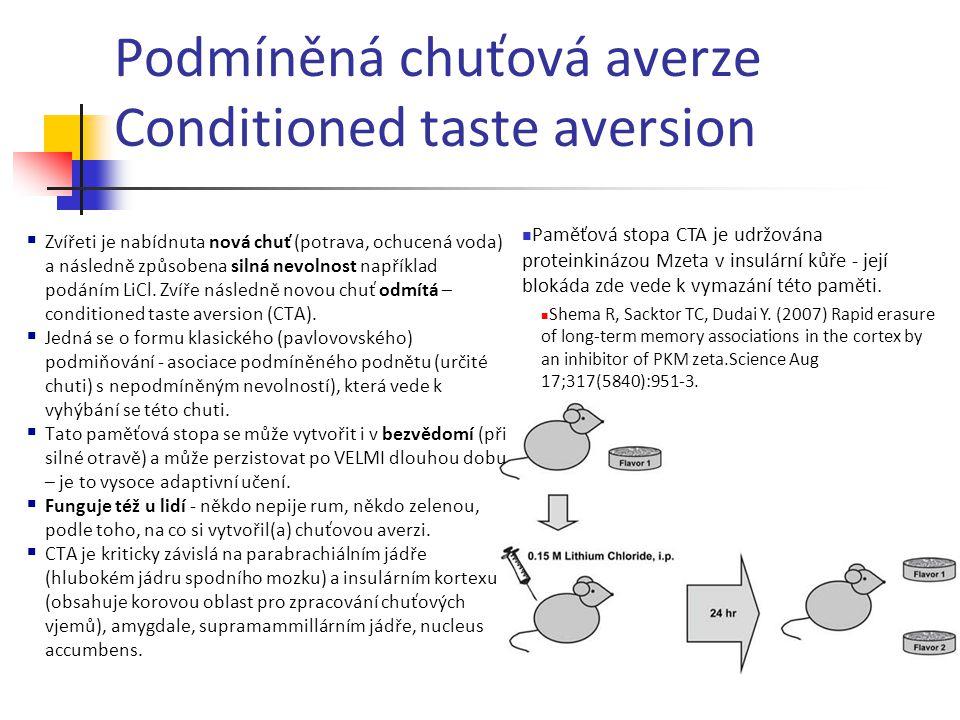 Podmíněná chuťová averze Conditioned taste aversion
