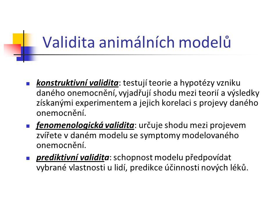 Validita animálních modelů