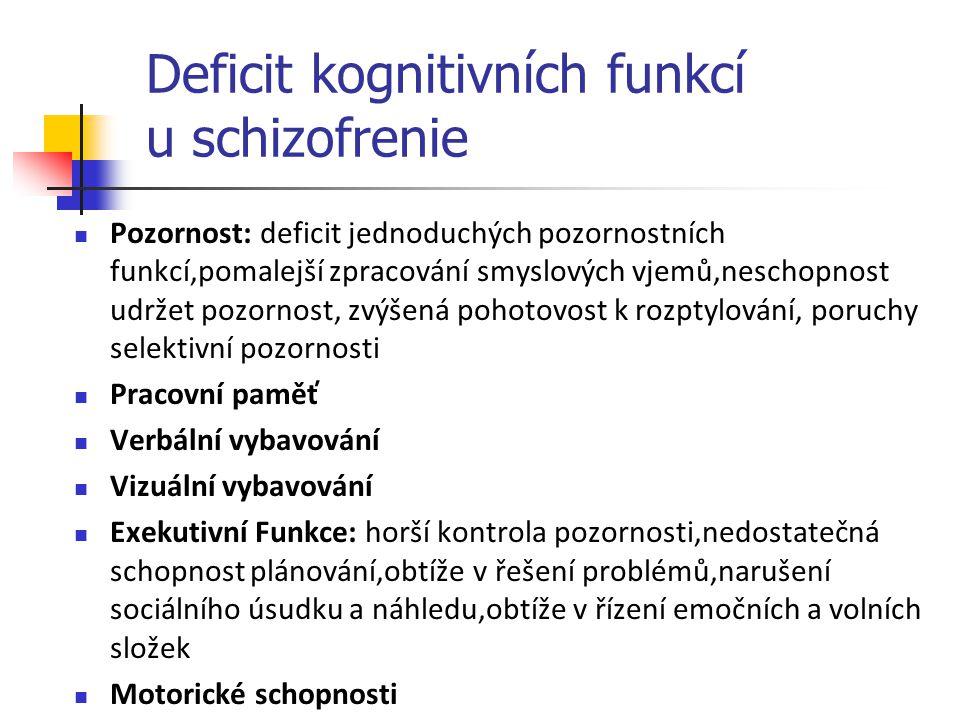 Deficit kognitivních funkcí u schizofrenie