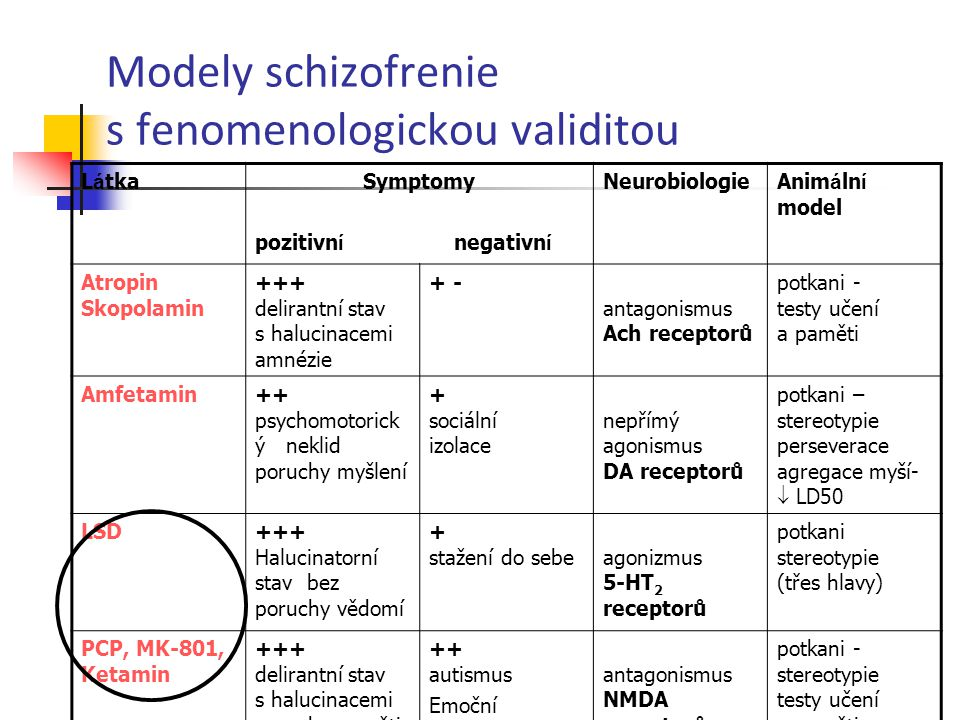 Modely schizofrenie s fenomenologickou validitou