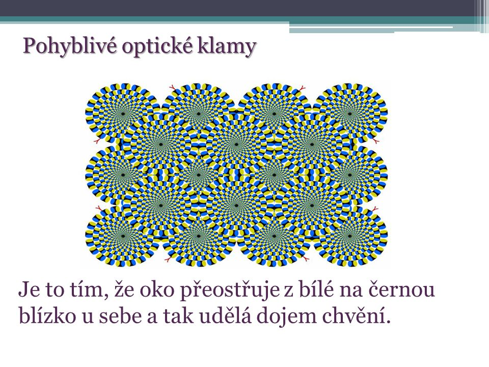 Pohyblivé optické klamy