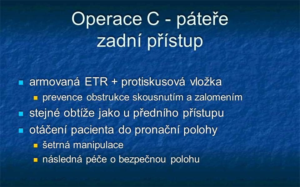 Operace C - páteře zadní přístup