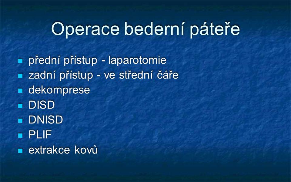 Operace bederní páteře