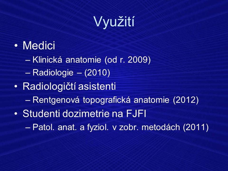 Využití Medici Radiologičtí asistenti Studenti dozimetrie na FJFI