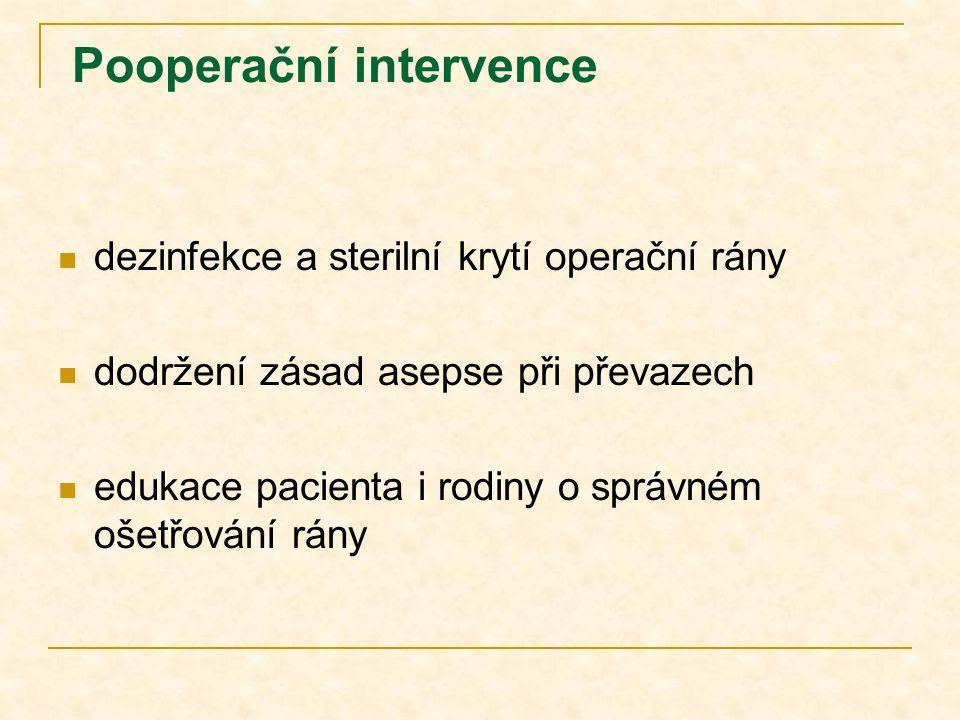 Pooperační intervence