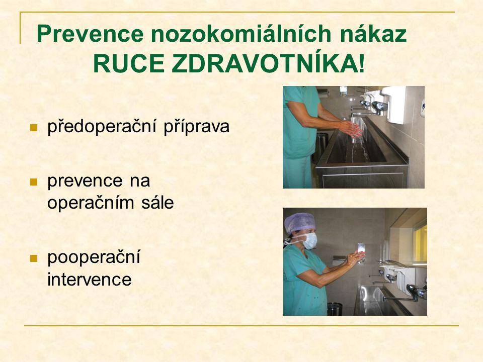 Prevence nozokomiálních nákaz RUCE ZDRAVOTNÍKA!
