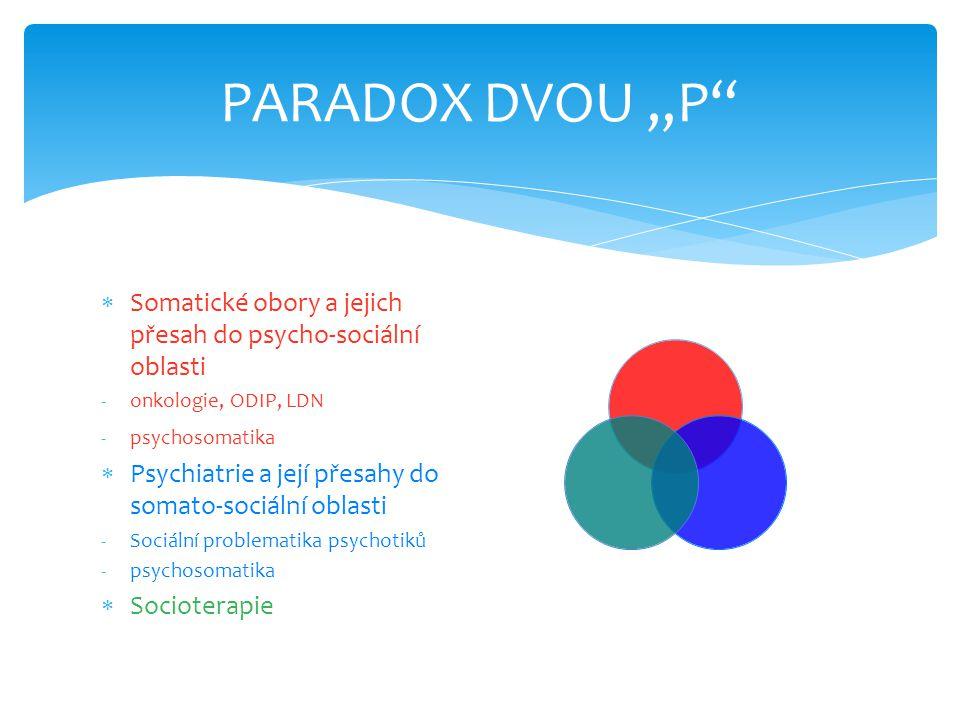 """PARADOX DVOU """"P Somatické obory a jejich přesah do psycho-sociální oblasti. onkologie, ODIP, LDN."""