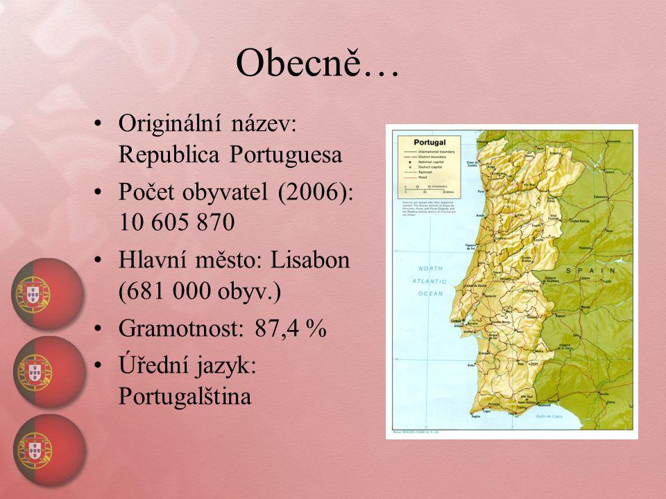 Obecně… Originální název: Republica Portuguesa