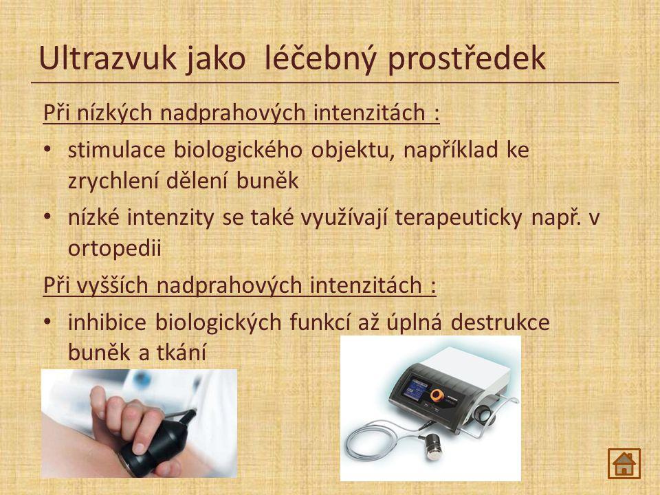 Ultrazvuk jako léčebný prostředek