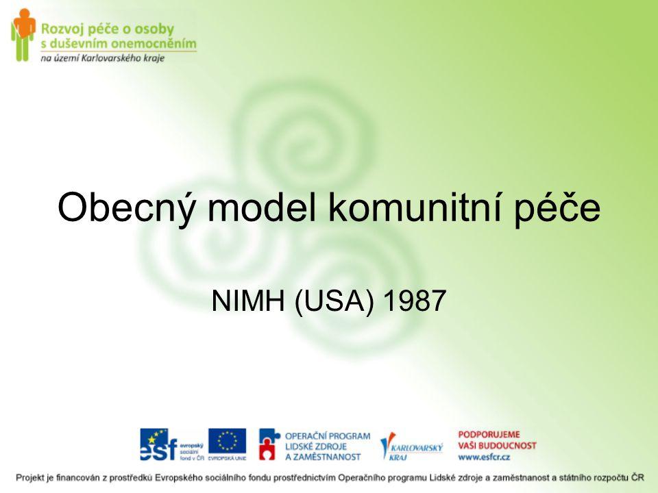 Obecný model komunitní péče